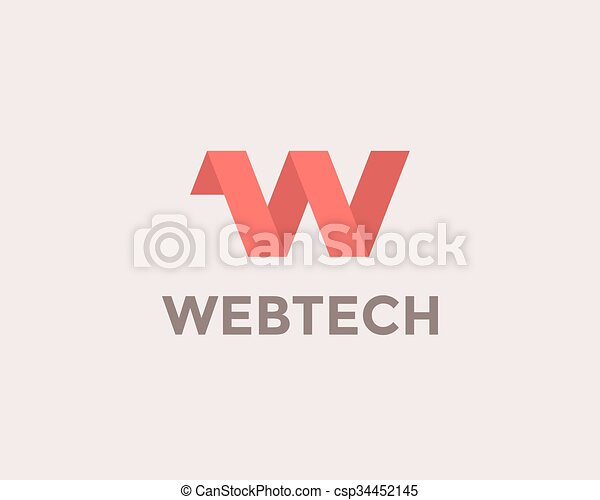 Letter W Logo - csp34452145