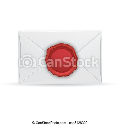 letter with seal - csp5128309