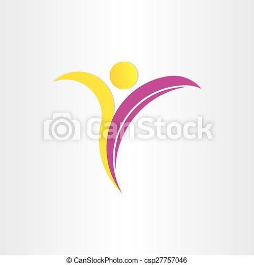 letter y healthy man yoga symbol - csp27757046