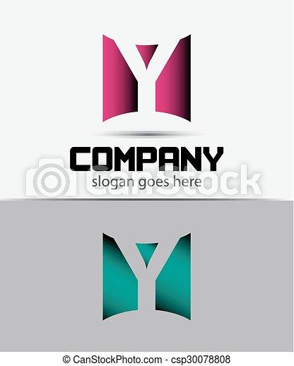 letter y logo icon design template csp30078808