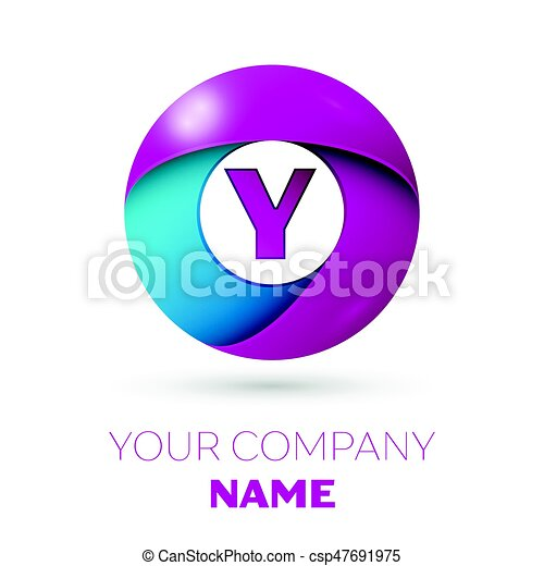 Letter Y Vector Logo Symbol In The Colorful Circle On