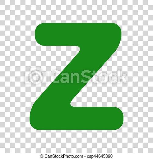letter z sign design template element dark green icon on eps