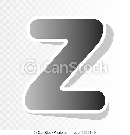 Letter Z Sign Design Template Element. Vector. New Year Blackish Icon On  Transparent Background With Transition.