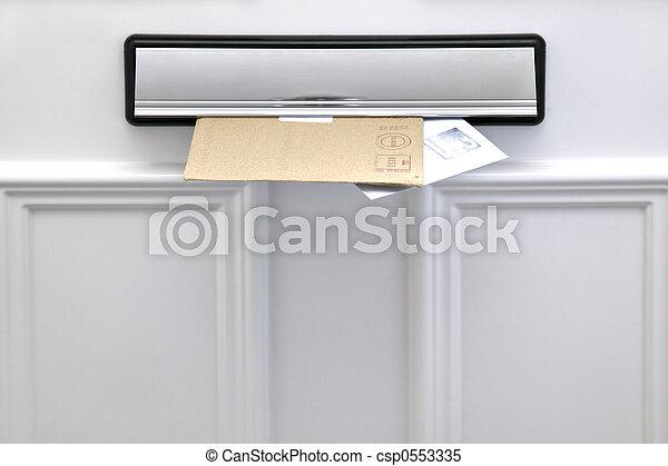 letterbox, 信件 - csp0553335
