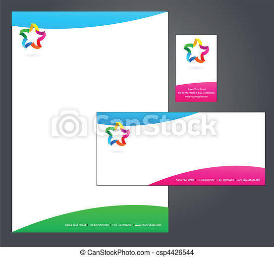 Letterhead template design 4 corporate identity template 4 letterhead template design 4 csp4426544 spiritdancerdesigns Image collections