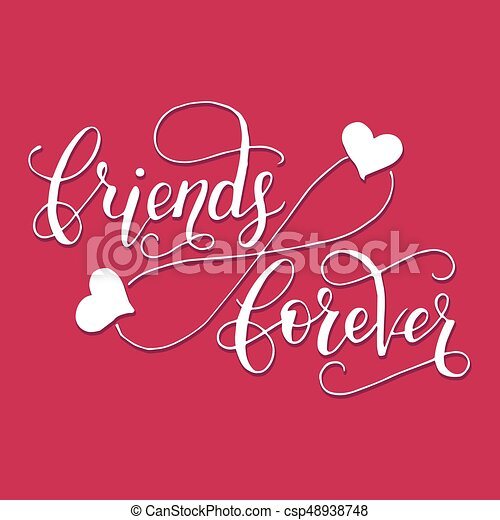 Friends forever lettering card for friendship day handdrawn unique friends forever lettering card for friendship day handdrawn unique calligraphy for greeting cards mugs t shirts ets m4hsunfo