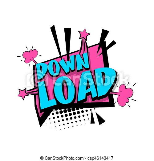 Lettering download comic text pop art