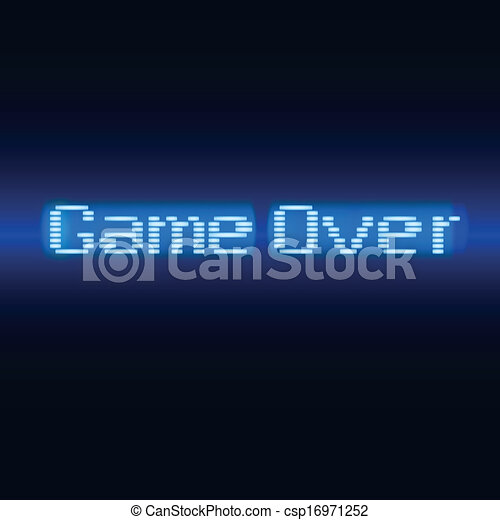 Lettering, game over - csp16971252