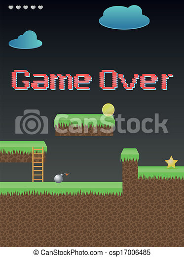 Lettering, game over - csp17006485
