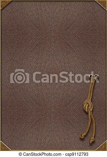 lettering, goud, textuur, koord, gebonden knoop, huid - csp9112793