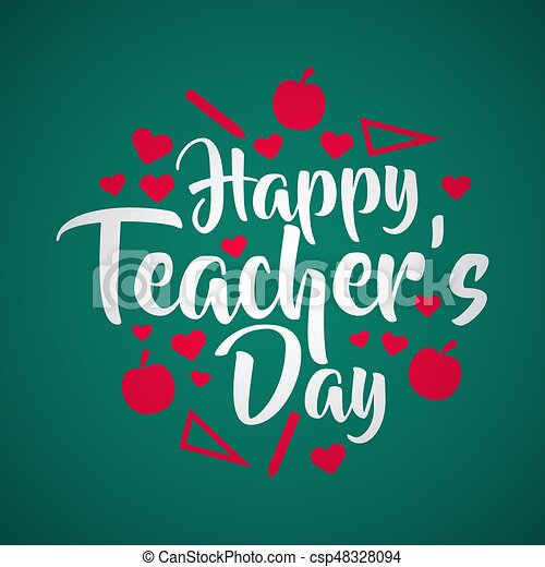 Lettering happy teachers day use for teachers day greeting card lettering happy teachers day use for teachers day greeting card csp48328094 m4hsunfo