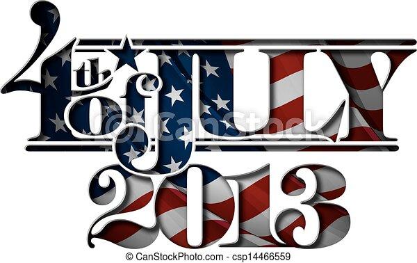 lettering, juli, cut-ou, vooruit, 2013 - csp14466559