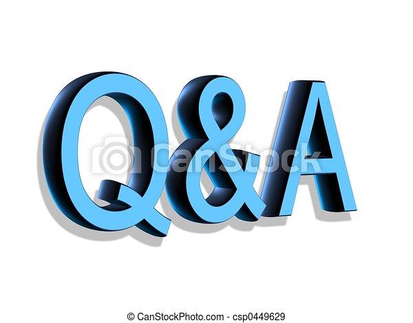 Cartas 3D: Q+A 3D - csp0449629