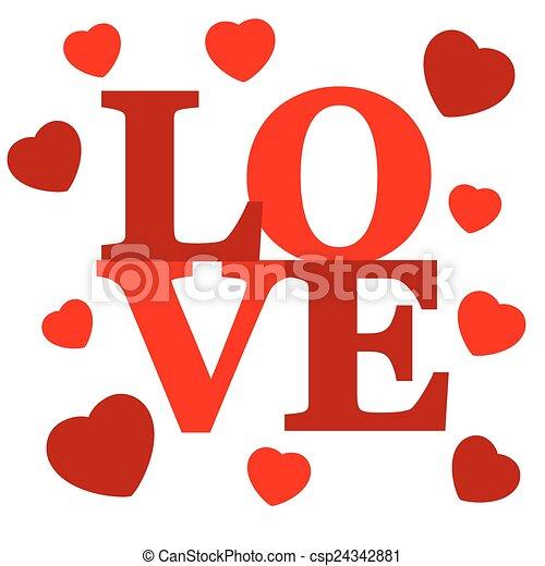 Lettering LOVE. - csp24342881