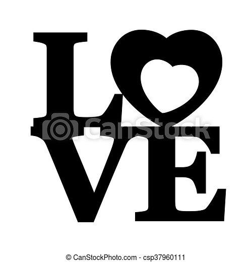 Lettering LOVE. - csp37960111