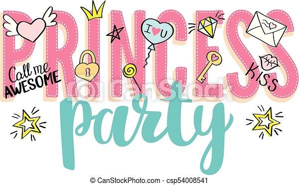 Lettering Menina Girly Frases Valentines Princesa Mão T Shirt Dia Partido Doodles Desenhado Slogan Desenho Cartão Print