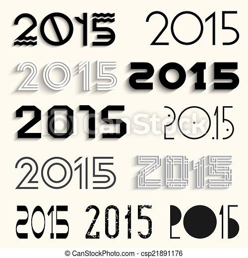lettering, set, vector, ontwerp, gevarieerd, 2013 - csp21891176