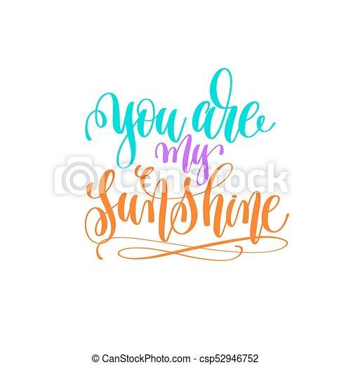 lettering, sol, -, mão, tu, meu - csp52946752