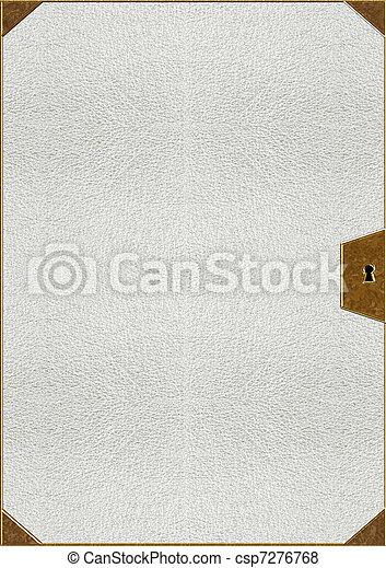 lettering, textuur, goud, huid - csp7276768