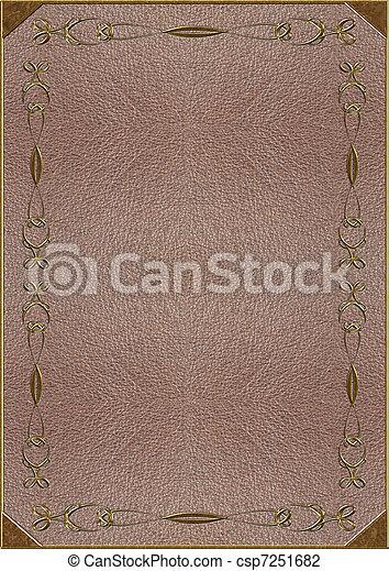 lettering, textuur, goud, huid - csp7251682