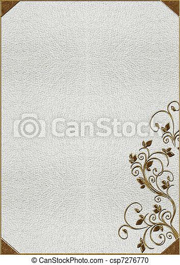 lettering, textuur, goud, huid - csp7276770