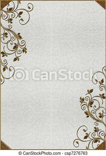 lettering, textuur, goud, huid - csp7276763