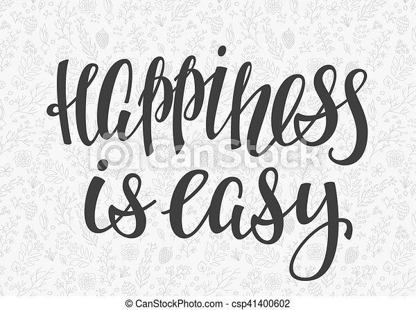 Lettering typography happiness overlay - csp41400602