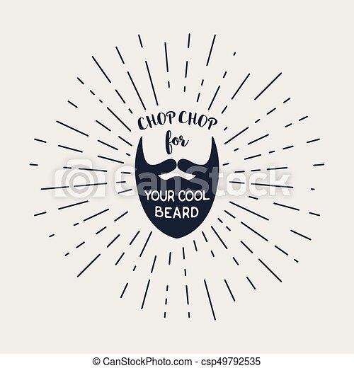 lettering, vetorial, hipster, barba - csp49792535