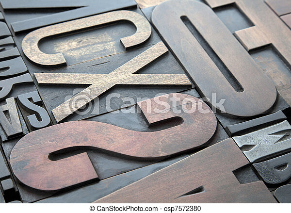 Letterpress background - csp7572380