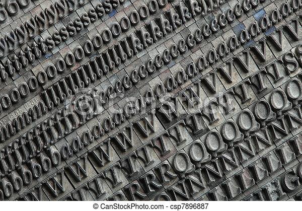 Letterpress blocks - csp7896887