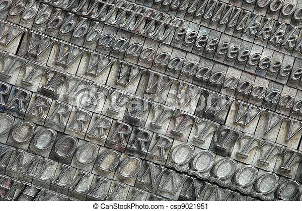 Letterpress blocks - csp9021951