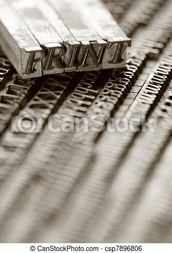 Letterpress blocks - csp7896806