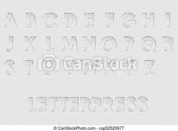 letterpress - csp52520977