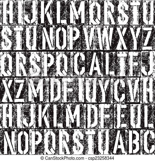Letterpress seamless background. Black and white version. - csp23258344
