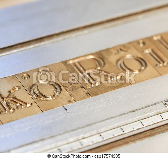 Letterpress - csp17574305