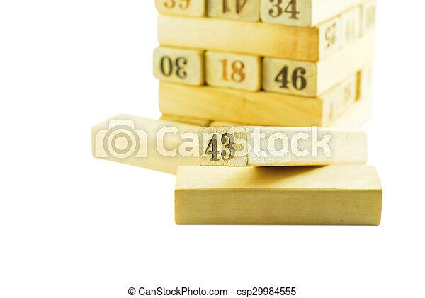 letterpress wood - csp29984555