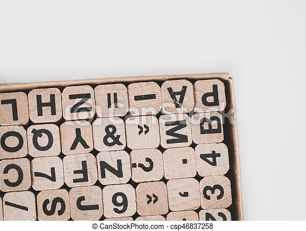 letters and numbers - communication concept - csp46837258