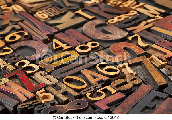 letters and numbers - csp7513042