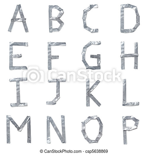 Letters made out of tape - csp5638869
