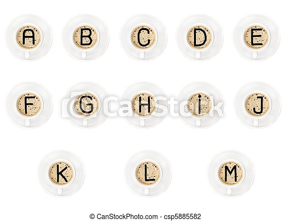 Letters on coffee - csp5885582