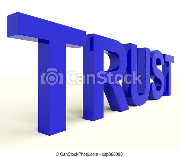 Letters Spelling Trust As Symbol for Faith And Belief - csp8680981