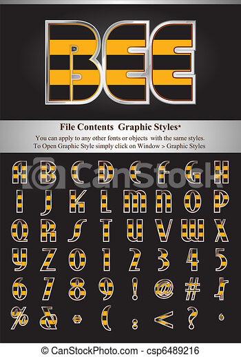 Letters with graphic style - csp6489216
