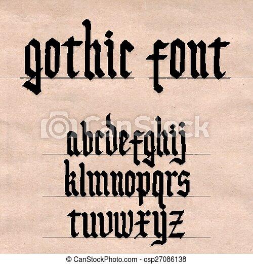 lettertype, gotisch - csp27086138