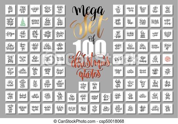 lettrage, ensemble, mega, citations, année, nouveau, 100, noël - csp50018068