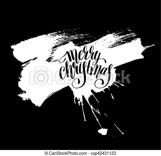 Lettrage Inscription Noir Joyeux Noël Blanc Manuscrit