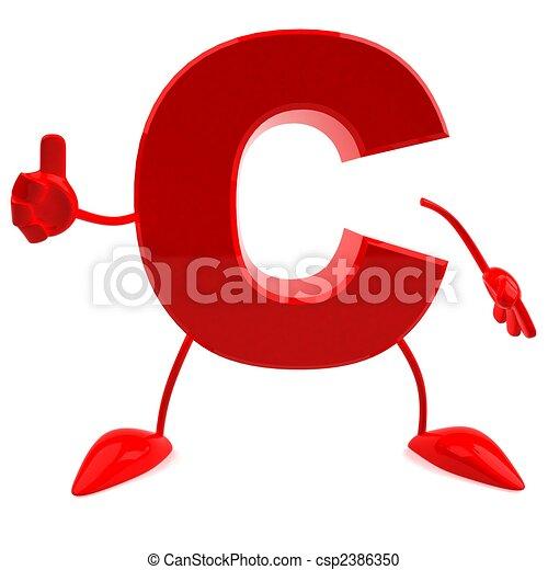 lettre, 3d - csp2386350