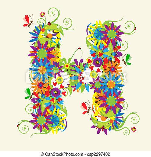 Awеѕоmе Letter D Floral Design Stock Vector 169 Kudryashka