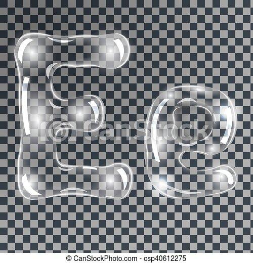 lettres bulles e sous marin e gris transparent nuances savon doux forme vecteur. Black Bedroom Furniture Sets. Home Design Ideas
