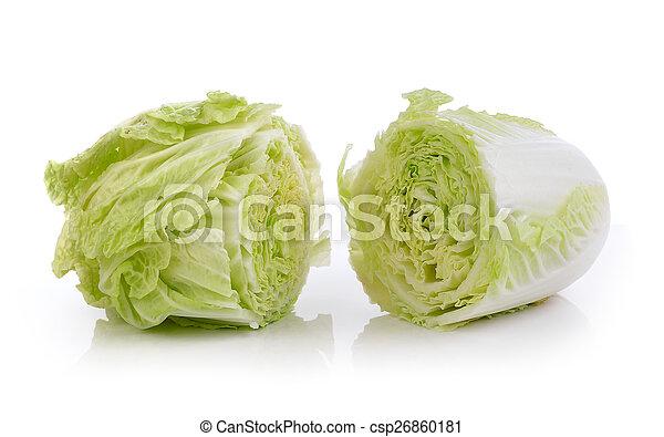 lettuce on white background - csp26860181