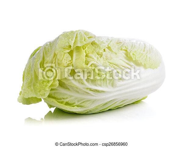 lettuce on white background - csp26856960